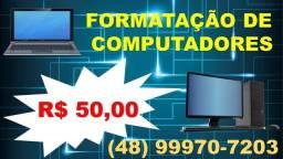 Formatação de computador e notebook