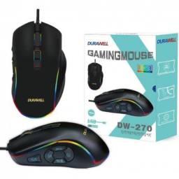 Mouse Gamer Com Led Rgb Usb Com Fio 3200dpi Durawell - Dw-270