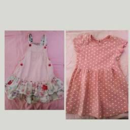 1 jardineira Caedu + vestido Baby club   25,00 comprar usado  São Vicente