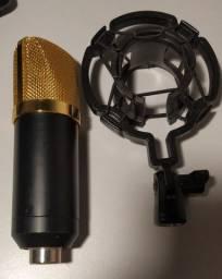MICROFONE BM800 CONDENSADOR PARA GRAVAÇÕES