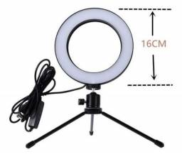 Ring Light Led 6 Polegadas 16cm Usb Tripé De Mesa