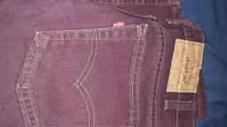 Calça jeans Levis top bordo top importada