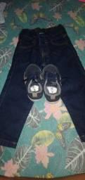 Calça e sapato