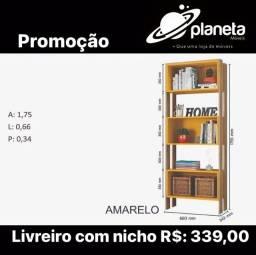 Título do anúncio: LIVREIRO COM NICHO NOVO / AQUÁRIOS AQUÁRIOS AQUÁRIOS