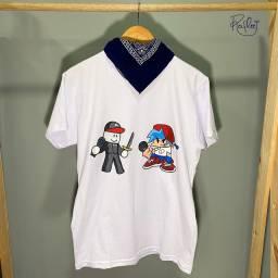 Título do anúncio: Camisas infantis - FNF - Hulk - Mario, Luigi