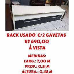 Título do anúncio: Rack usado! Loja móveis chafariz em Taubaté