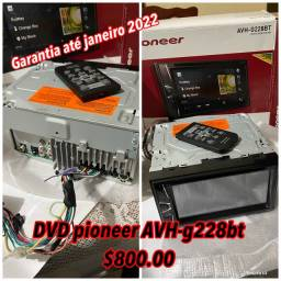 DVD pioneer AVH-g228bt $800 garantia até janeiro