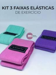 Kit 3 faixas elásticas de exercícios