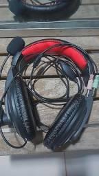 Título do anúncio: Headset Com Microfone (2 entrada!).