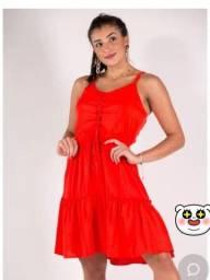 Vestido vermelho coral