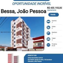 Título do anúncio: Apartamento para Venda em João Pessoa, Bessa, 3 dormitórios, 2 suítes, 1 banheiro, 2 vagas
