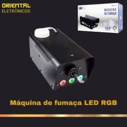 Título do anúncio: Maquina De Fumaça 3 Leds Rgb Controle Sem Fio 600w Dj Show