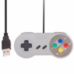 Título do anúncio: Controle Usb Modelo Super Nintendo Super Control -Loja Coimbra -Temos Motoboy