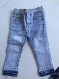 Calça jeans legging 7forAll - 12M menina