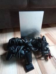 Título do anúncio: PlayStation 2 Original Prata Top