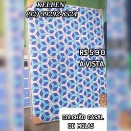 Título do anúncio: Colchão Casal Molas - Frete Grátis >>