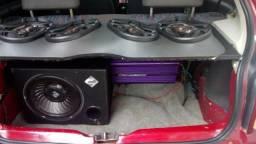 Sub 400rms +quatro Bravox novo módulos 840wats
