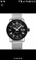 Relógio aço inoxidável lindo