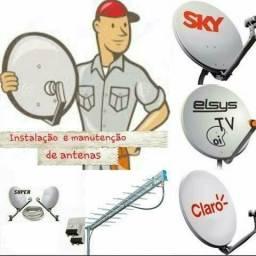 Manutenção de antenas HDTV