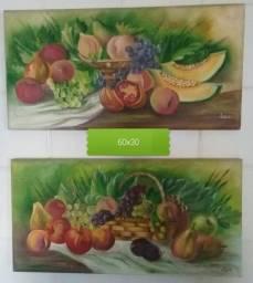 Quadro pintura em óleo sobre tela