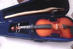 Violino Eagle VE441 4/4 com Case, Cera importada e Arco(sem fibra)