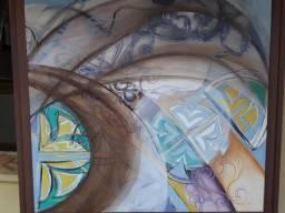 Quadro em acrílico da artista plástica Simone Rosa