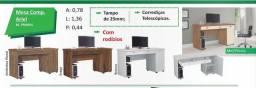 Mesa de computador com rodízios/ produto novo