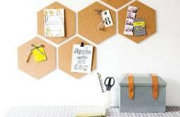 Cortiça Hexagon Cortiarte autoadesiva, pacotes com 6 peças