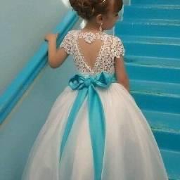 Vestido de dama de honra daminha noivinha sob medidas