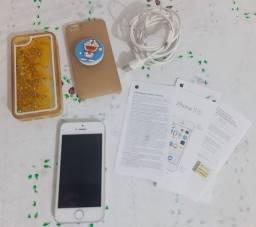 IPhone 5s branco e prata, usado em perfeito funcionamento