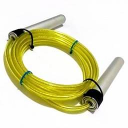 Cordas de pular alumínio com rolamento e cabo de aço embutido.