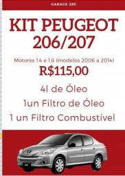 Kit Revisão Peugeot 206/207 (motores 1.4 e 1.6 - modelos 2006 a 2014)