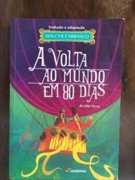 Livro A Volta Ao Mundo Em 80 Dias Julio Verne Em Ótimo Estado de Conservação