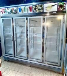 Expositor vertical refrigerado 4 portas gelopar