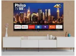 """Smart TV 4K D-LED 55"""" Philco por apenas R$ 2.499.<br>"""
