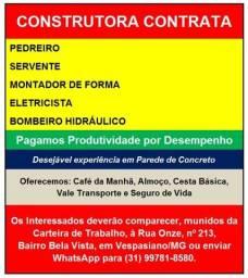 Título do anúncio: Construtora Contrata