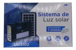 Título do anúncio: Kit placa solar iluminação lanterna mais 3lampadas
