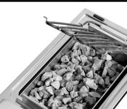 Título do anúncio: Pedra Vulcanica Cinza Para Churrasqueiras/lareiras - Pct 2kg