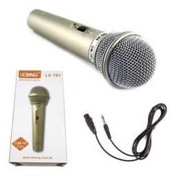 Título do anúncio: Microfone novo com fio 2metros