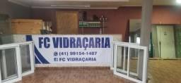 Título do anúncio: FC Vidraçaria  no Cajuru (box,espelhos,prateleiras ,portas , janelas , vidros em geral)
