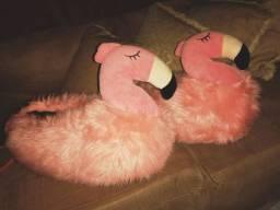 Pantufa flamingo