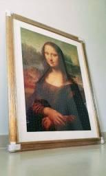 Quadro - Mona Lisa - Quebra-cabeça - Novo!