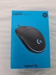 Título do anúncio: Mouse Logitech G203 novo com NF e garantia