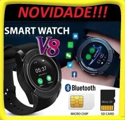 Relógio Smartwatch Multi Tarefas Funções Celular V8