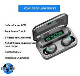 Fone de Ouvido TWS F9 / Bluetooth / Promoção / Atende Chamadas / Novo / Entrega Gratuita