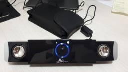 Alto-falante da Clone, entrada USB, em black piano, portátil, com estojo