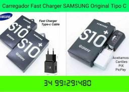 Carregador USB CARGA RAPIDA Tipo C SAMSUNG (Cabo 1MT+Fonte Parede)APROVEITE