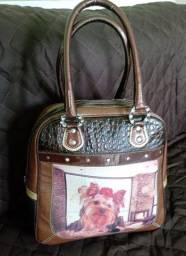 Bolsa de couro  do yorkshire nova
