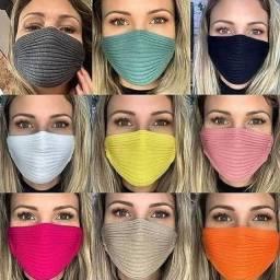 Máscara tricot atacado 25 peças