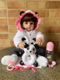 Título do anúncio: Linda Boneca Bebê Reborn Toda em Silicone Nova (aceito cartão )